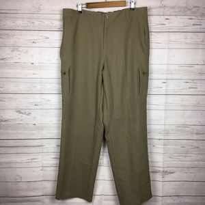 Columbia GRT Mens Zipper Cargo Brown Pants XL x 32